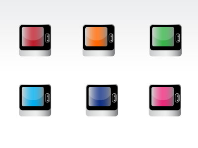glossy TV Buttons free vector download